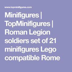 Minifigures | TopMinifigures | Roman Legion soldiers set of 21 minifigures Lego compatible Rome