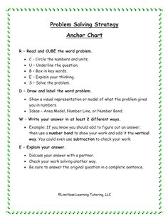 FREEBIE - Help your students solve problems more successfully!