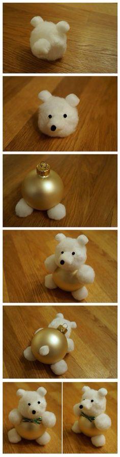 Pallina Natale orsetto