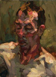 Portrait Head oil on board Alan McGowan