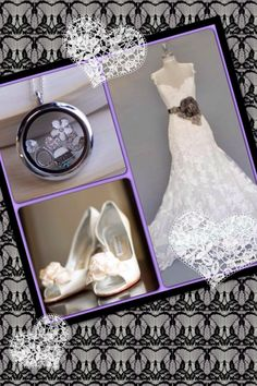 Origami Owl - Wedding Locket  Want this look? Visit www.giftssocaptivating.origamiowl.com or www.fb.com/ChristyCliburnOO..