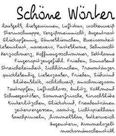 Schöne Wörter                                                       …