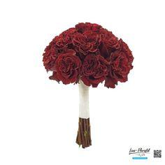 """Rund gebundener Brautstrauß mit roten Ecuador Rosen """"Hearts"""" Ecuador, Hearts, Red Roses, Round Round"""