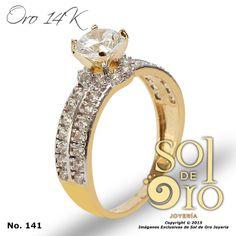 Anillo de compromiso en oro 14k RD$4,900 este precio incluye su grabado.