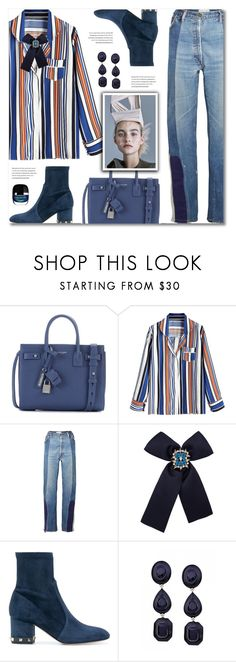 """Airport Style"" by defivirda on Polyvore featuring Yves Saint Laurent and Valentino"