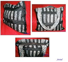 Bolso con rayas - patchwork  Striped bag - patchwork