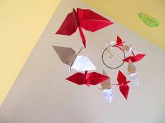 Bicolor origami crane mobile/ Mobile bicouleur de by KawaiiSayuri, $50.00