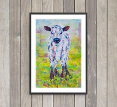 PRINT The Future Calf Fine Art Print. Western modern art.