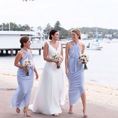 The Best Beach Weddings on Instagram; Soft pastel shades look stunning on the sand.