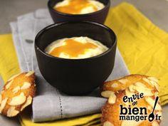 Riz au lait au caramel beurre salé, tuiles aux amandes