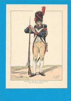 France - Planche de JOB - Garde Impériale. Artillerie à Pied.