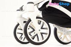 Kombikinderwagen Torino 3in1 - schwenkbare Vorderräder mit der Blockademöglichkeit #babyshopexpert #kombikinderwagen #torino #3in1