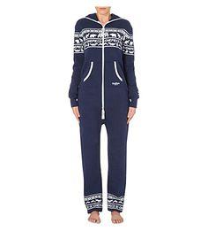 ONEPIECE Snowball cotton-jersey onesie (Navy