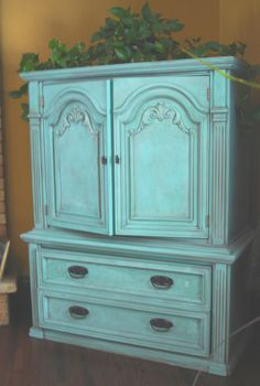 Turquoise Dresser Glazed Black - Before & After | Turquoise ...
