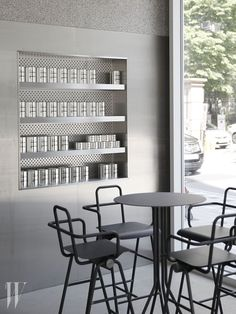 Cafe interior - Joongho Choi completes pure interior of a café in Seoul – Cafe interior Bar Interior, Retail Interior, Kitchen Interior, Cafe Seating, Interior Design Images, Innovation, Cafe Design, Store Design, Shop Interiors