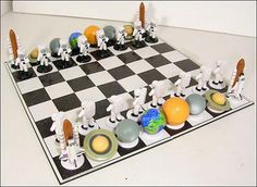 Space chess set