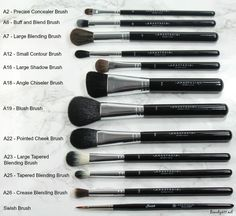 Current Obsession: Anastasia Beverly Hills Pro Makeup Brushes - Eye Makeup Tutorials and Tips Eye Makeup Brushes, Makeup Tools, Skin Makeup, Makeup Products, Beauty Makeup, Beauty Tips, Beauty Products, Face Brushes, Beauty Zone