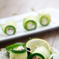 delicious cucumber and feta