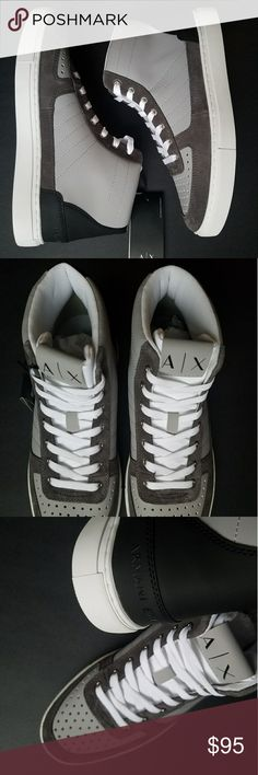 A|X Armani Exchange Men's Sneakers - Perforated Armani Exchange Shoes Sneakers