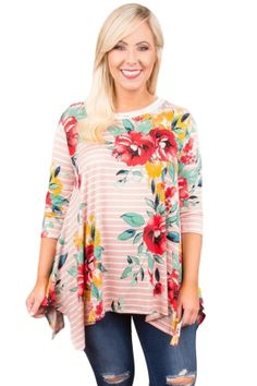 Tsmile Womens Plus Size Blouse Cut Overlay Casual Printed Floral Color 3//4 Sleeve Tops Loose O-Neck Shirts