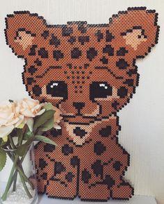 Leopard hama beads by  thomastopea