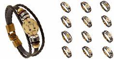 Zodiac Signs Leather Bracelet