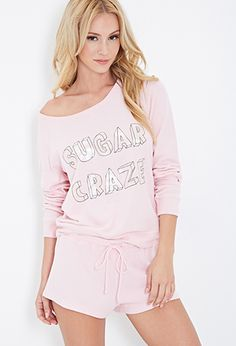 Sugar Craze Graphic PJ Set   FOREVER21 - 2000136437