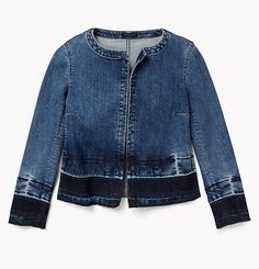 Shop our favorite denim jackets: Theory.