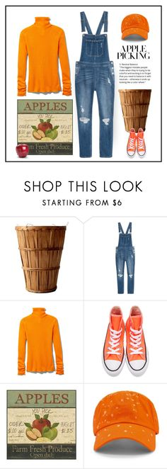 """""""A Day in the Orchard"""" by patricia-dimmick ❤ liked on Polyvore featuring Victoria Beckham, Converse, FRUIT, 21 Men and applepicking"""