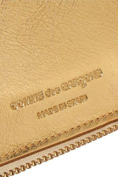 Comme des Garçons - Metallic Textured-leather Continental Wallet - Gold - one size