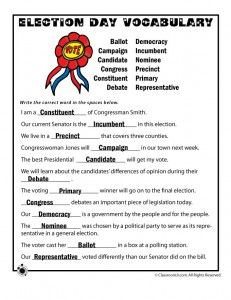 election day worksheets key 231x300 Election Worksheets for Kids. This worksheet could be useful when teaching government lessons. Their are many worksheet that teach students about election and how the government works.