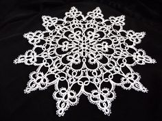 Handcrafted tatting  white Doily   Home decor  wedding by ShopGift