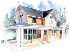 Houseplans.com Plan #479-5 Front Elevation