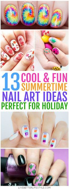 Brighten up your summer holiday with these DIY nail art ideas that are easy to make even for beginners! Definitely pinning for later! #summer #nailart #DIY #beauty #styleinspiration