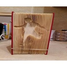Football PLayer cut and fold book folding pattern.