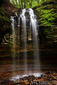Tannery Falls - Michigan  My heart races looking at theses beautiful places in MI. I could NEVER go live in Iowa ever again. So stunning.