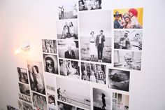 Åh vad bra att slippa en tavelvägg med ramar. Foton uppklistrade direkt på väggen sitter där de ska! Snyggt!