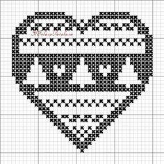 Xmas Cross Stitch, Cross Stitch Heart, Cross Stitch Cards, Cross Stitching, Cross Stitch Embroidery, Cross Stitch Patterns, Hand Embroidery Designs, Embroidery Flowers Pattern, Filet Crochet Charts