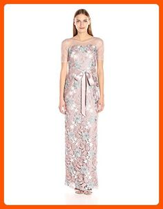 Adrianna Papell Women's Sleevless Tri Color Guipure Lace Column Gown, Quartz Multi, 6 - All about women (*Amazon Partner-Link)
