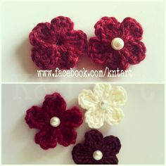 A friend of mine asked me to make some flowers to decorate her bath rug set, which she thought looked too simple. I thought sharing a flower...