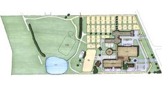 Included in this project are two 20-stall barns for boarding and schooling horses, a round pen, two indoor arenas for hunter/jumpers and dressage, a health club, and a restaurant.