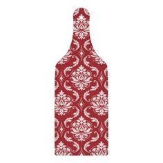 Red Damask Vintage Pattern