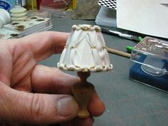 Dollhouse Miniature Furniture - Tutorials | 1 inch minis: How to Make a Lamp Harp for a Dollhouse Electrified Lamp