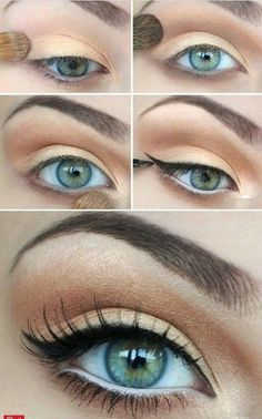 This natural eye makeup for blue eyes is amazing. Find other makeup products you love at http://Beauty.com.