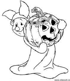 piglet halloween coloring pages for preschool printables
