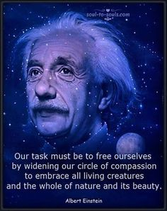 Albert Einstein by Tim O'Brien Guter Rat, Theoretical Physics, Quality Quotes, E Mc2, Albert Einstein Quotes, Spiritual Quotes, Healing Quotes, Compassion, Wise Words