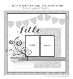 It's a Sketchy Challenge: Sept 2012  Canadian Scrapbooker