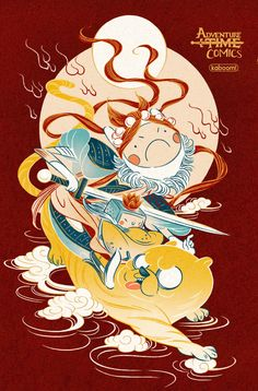 Adventure Time Comics (Cover C Feifei Ruan) - Comic Art Awareness - Adventure Adventure Time Comics, Adveture Time, Chinese New Year Design, Illustrations And Posters, Comic Covers, Chinese Art, Cartoon Drawings, Asian Art, Anime Manga