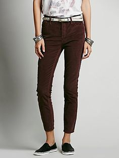 Hi Rise Corduroy Skinnies- Free People