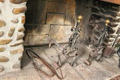 Inside the old fireplace
